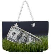 Cash In The Grass. Weekender Tote Bag