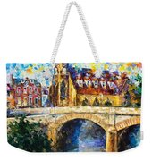 Castle By The River - Palette Knife Oil Painting On Canvas By Leonid Afremov Weekender Tote Bag
