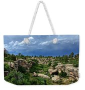 Castlewood Canyon And Rain Weekender Tote Bag