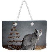 Cat Christmas Weekender Tote Bag