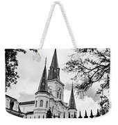 Cathedral Basilica - Square Bw Weekender Tote Bag