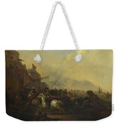 Cavalry Attacking A Fortified Place Weekender Tote Bag