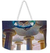 Ceiling Boss And Columns, Park Guell, Barcelona Weekender Tote Bag