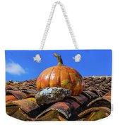 Ceramic Pumpkin On A Roof Weekender Tote Bag