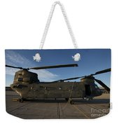 Ch-47 Chinook Helicopter On The Tarmac Weekender Tote Bag