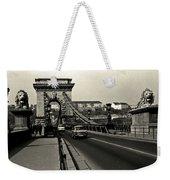 Chain Bridge Of Budapest In 1990 Weekender Tote Bag