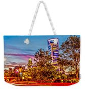 Charlotte City Skyline Early Morning At Sunrise Weekender Tote Bag