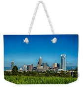 Charlotte North Carolina Cityscape Of Downtown Weekender Tote Bag