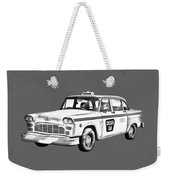Checkered Taxi Cab Illustrastion Weekender Tote Bag