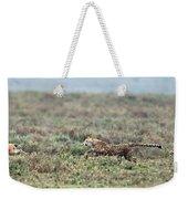 Cheetah Acinonyx Jubatus Hunting Weekender Tote Bag