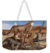 Cheetah Family Tree Weekender Tote Bag