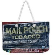 Chew Mail Pouch Tobacco Ad Weekender Tote Bag