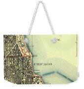 Chicago Old Map Weekender Tote Bag