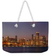 Chicago Skyline At Dusk Panorama Weekender Tote Bag