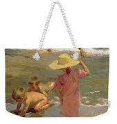 Children On The Seashore Weekender Tote Bag by Joaquin Sorolla y Bastida