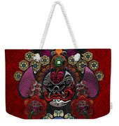 Chinese Masks - Large Masks Series - The Demon Weekender Tote Bag by Serge Averbukh