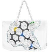 Chlorpromazine, Molecular Model Weekender Tote Bag