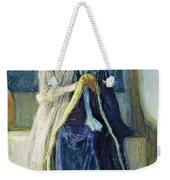 Christ And His Mother Studying The Scriptures Weekender Tote Bag