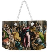 Christ Driving The Traders From The Temple Weekender Tote Bag