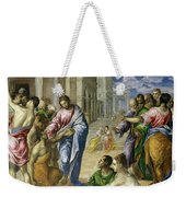 Christ Healing The Blind Weekender Tote Bag