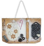 Christmas Interior With Sweets And Vintage Kitchen Tools Weekender Tote Bag