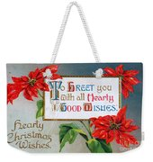 Christmas Postcard Weekender Tote Bag