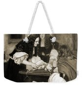 Christopher Wren Injects Drugs Weekender Tote Bag