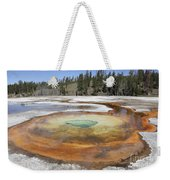 Chromatic Pool Hot Spring, Upper Geyser Weekender Tote Bag by Richard Roscoe