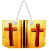 Church Doors Weekender Tote Bag