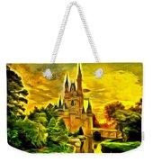 Cinderella Castle - Van Gogh Style Weekender Tote Bag