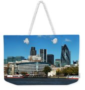 City Of London Skyline Weekender Tote Bag