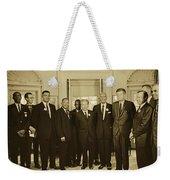 Civil Rights Leaders And President Kennedy 1963 Weekender Tote Bag