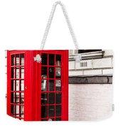 Classic Red London Telephone Box Weekender Tote Bag