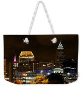 Colorful Sky Above The City On The Shore Weekender Tote Bag