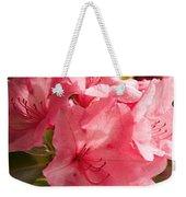 Close-up Of Pink Flowers In Bloom Weekender Tote Bag
