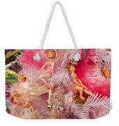 Close-up Of Toys On Christmas Tree Weekender Tote Bag