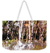 Close Up Of Waterfall Flowing Over Rocks  Weekender Tote Bag