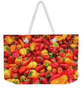 Close Up View Of Small Bell Peppers Of Various Colors Weekender Tote Bag