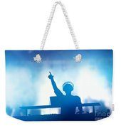 Club Dj Playing And Mixing Music For People Weekender Tote Bag