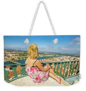 Coimbra Cityscape Woman Weekender Tote Bag