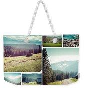 Collage Of Tatra Mountains Weekender Tote Bag