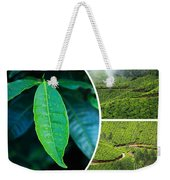 Collage Of  Tea Plantations In Munnar  Weekender Tote Bag