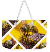 Collage Of Western Honey Bee Weekender Tote Bag