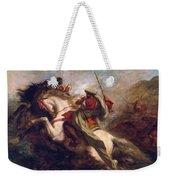 Collision Of Moorish Horsemen Weekender Tote Bag