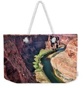 Colorado River Flows Around Horseshoe Bend  Weekender Tote Bag