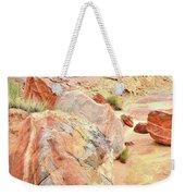 Colorful Boulders In Wash 3 In Valley Of Fire Weekender Tote Bag