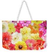 Colorful Floral Background Weekender Tote Bag