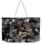 Colorful Lichens Growing On Rocks Along Monument Ridge, In The Eastern Sierra Nevadas Weekender Tote Bag