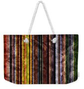 Colorful Vertical Stripes Background In Vintage Retro Style Weekender Tote Bag