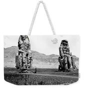 Colossi Of Memnon, Valley Of The Kings Weekender Tote Bag